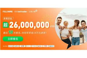 参赛账户数3,200个!ImTrader交易大赛参赛资金超2,600万美元!